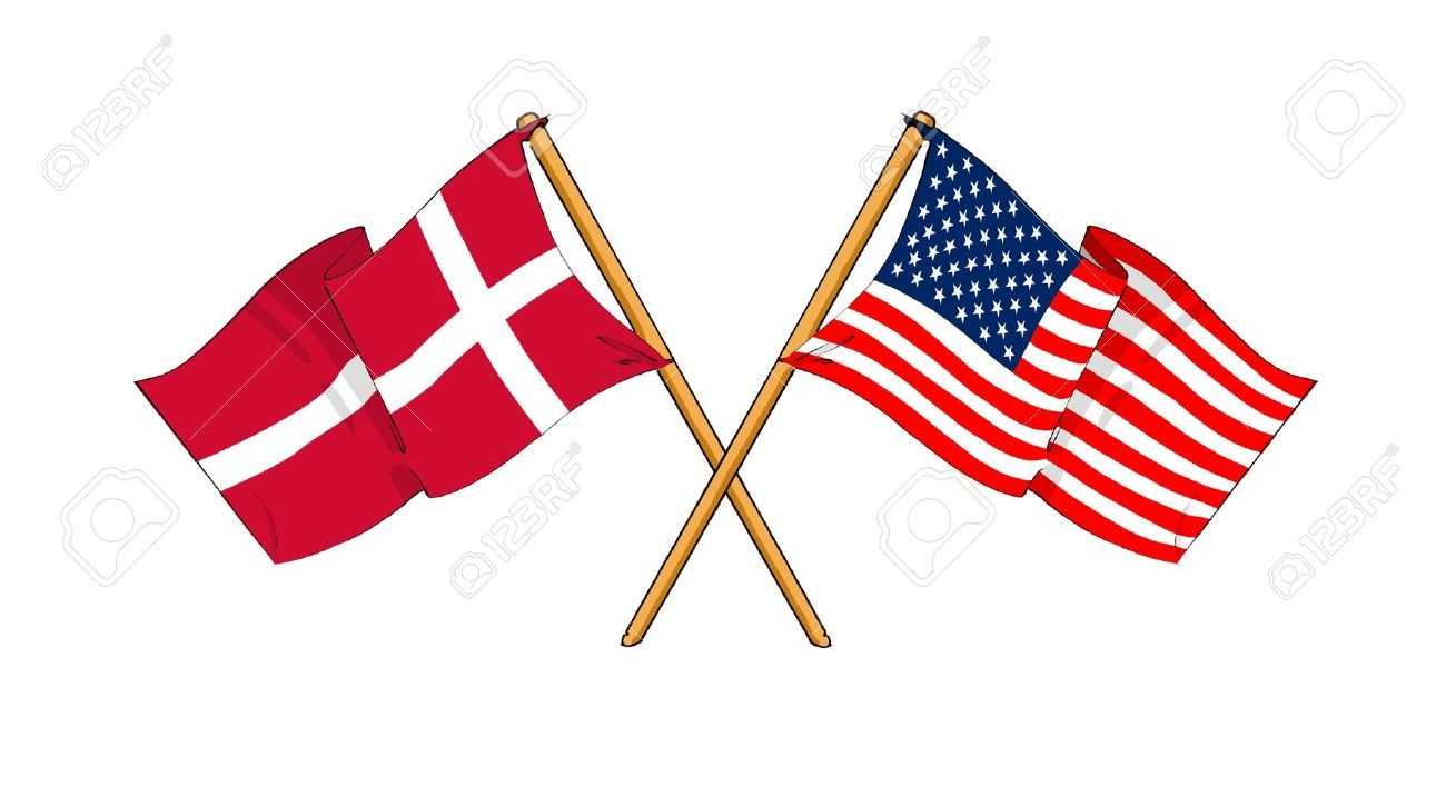 Danish and American Flags
